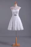 2019 White Unique Homecoming Dress A Line Short/Mini Tulle With Applique