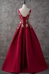 A-Line Bateau Floor-Length Sleeveless Satin Prom Dress/Evening Dress SSMPJQ7ECFK