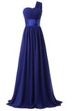 Chiffon One Shoulder Bridesmaids Dresses JS540