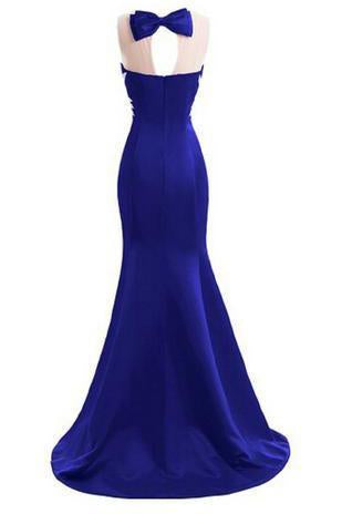 Crystal Mermaid Sexy Backless Sparkly Long Prom Evening Dresses JS236