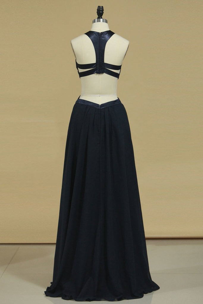 2019 Open Back Prom Dresses Sheath Scoop Chiffon Sweep Train