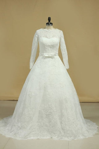 Latest Style Wedding Dresses Scoop A-Line SSMPHY5FZMN