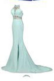 Elegant Beading Open Back Long Mermaid Prom Dresses Evening Dresses JS503