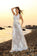 Princess A-Line Halter Belt Sleeveless Long Lace Sweetheart Beach Wedding Dresses JS561