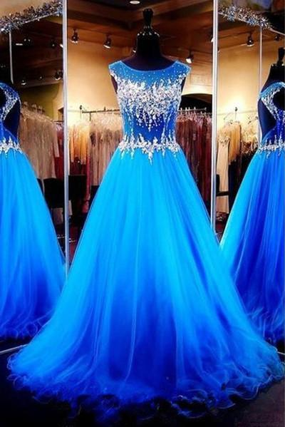 A-line Tulle evening Prom dresses On Sale Prom Dress Prom Dresses Online