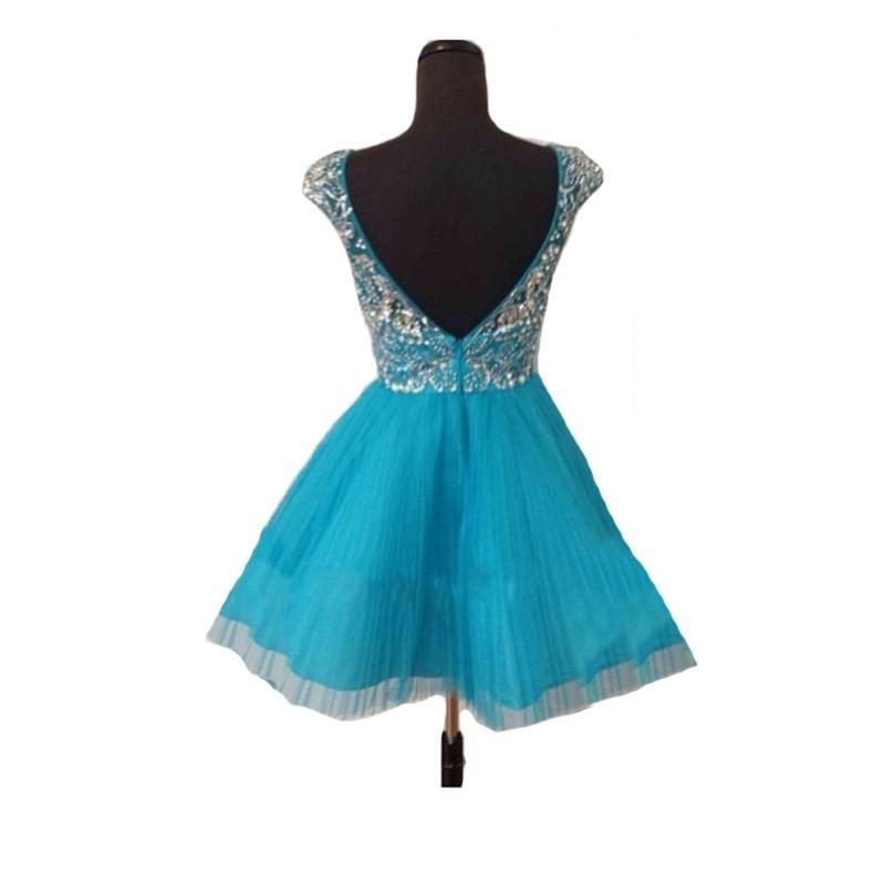 Blue Short Prom Dresses Homecoming Gowns Fitted Party Dress Sparkly Cocktail Dress JS898