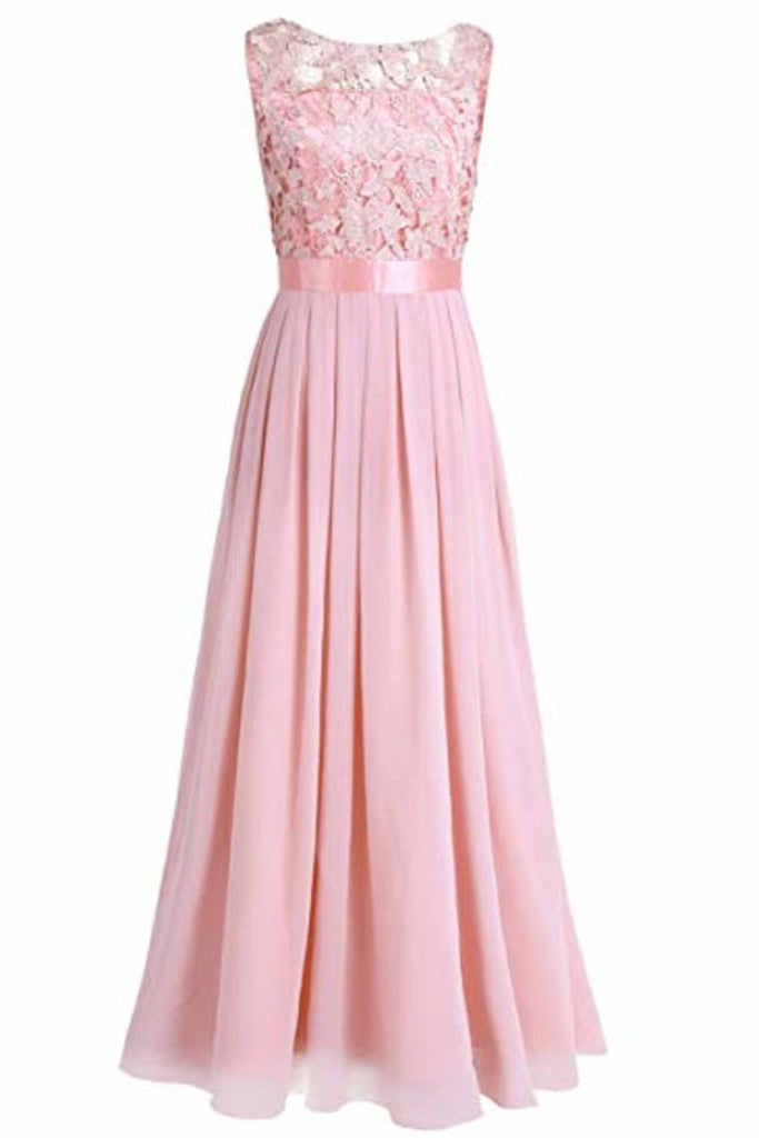 Wedding Bridesmaid Dress Chiffon Elegant Floor Length A Line