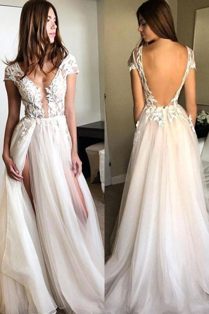 2021 A-Line/Princess Long Sleeves V-Neck Chiffon Applique Floor-Length Dresses Evening Dress