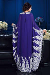 A-Line Princess Scoop Appliques Long Sleeves High Neck Chiffon Mother of the Bride Dresses JS887
