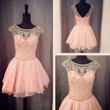 Blush Pink Short Prom Gown Sweet 16 Dress Homecoming Dresses JS900
