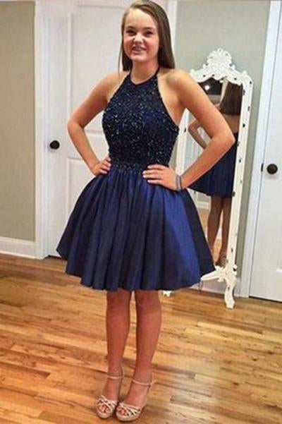 Cute Royal Blue Homecoming Dress Short Prom Dresses JS332