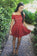 Stylish Gorgeous A-Line Off-Shoulder Red Lace Short Cute Mini Homecoming Dress JS195