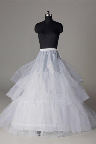 Silk Satin Wedding Petticoat Accessories White Floor Length FU03