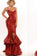 Spaghetti Straps Red Sequin Long Mermaid Front Slit Sparkle Long Prom Dresses JS520