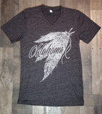 Feather V-neck