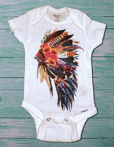 Baby Headdress Onsie