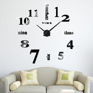 Creative DIY Sticker Wall Clock Three-dimensional Acrylic Decoration