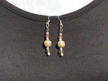 Silver & Copper Swarovski Crystal Earrings