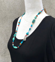 "27"" Long Mixed Bead Boho Necklace"