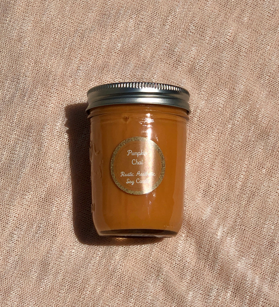 Pumpkin Chai Soy Candle in an Iconic Mason Jar