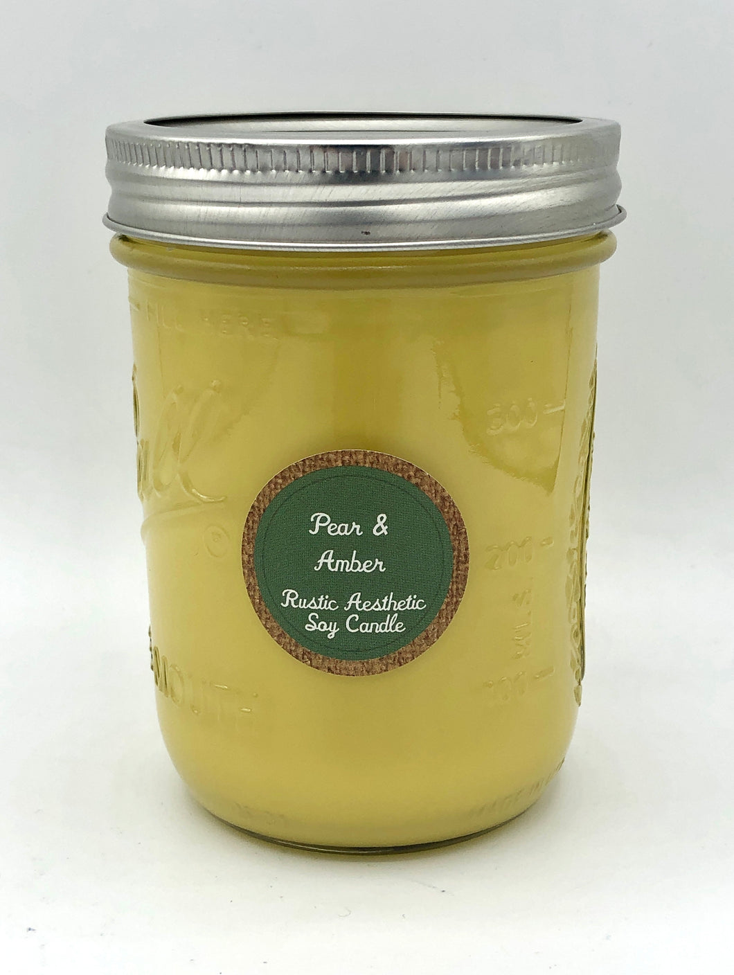 Pear & Amber Soy Candle in an Iconic Mason Jar