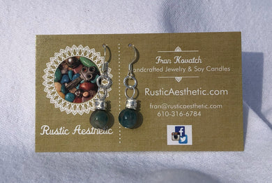 Apatite & Silver Bali Earrings