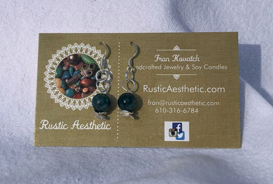 Apatite & Silver Earrings