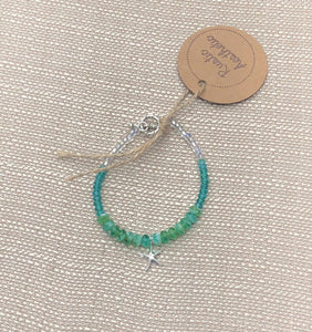 Aqua Ombre Czech Glass Sea Star Bracelet