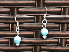 Aquamarine & Silver Earrings