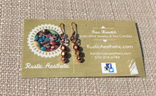 Berry & Gold Matte Metallic Czech Glass & Copper Earrings