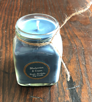Blueberries & Cream Soy Candle in a Jelly Jar
