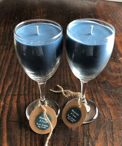 Blueberries & Cream Soy Candle in a Wine Glass