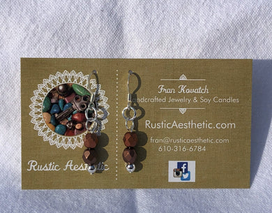 Burgundy & Berry Czech Glass & Silver Double Earrings