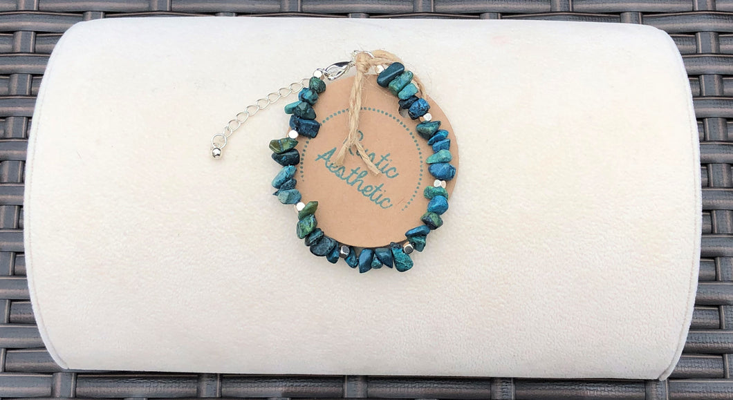Chunky Turquoise & Silver Bracelet