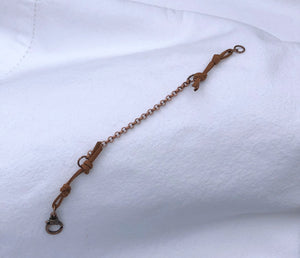 Copper & Café au Lait Leather Bracelet