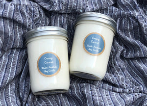 Creamy Coconut in an Iconic Mason Jar Soy Candle