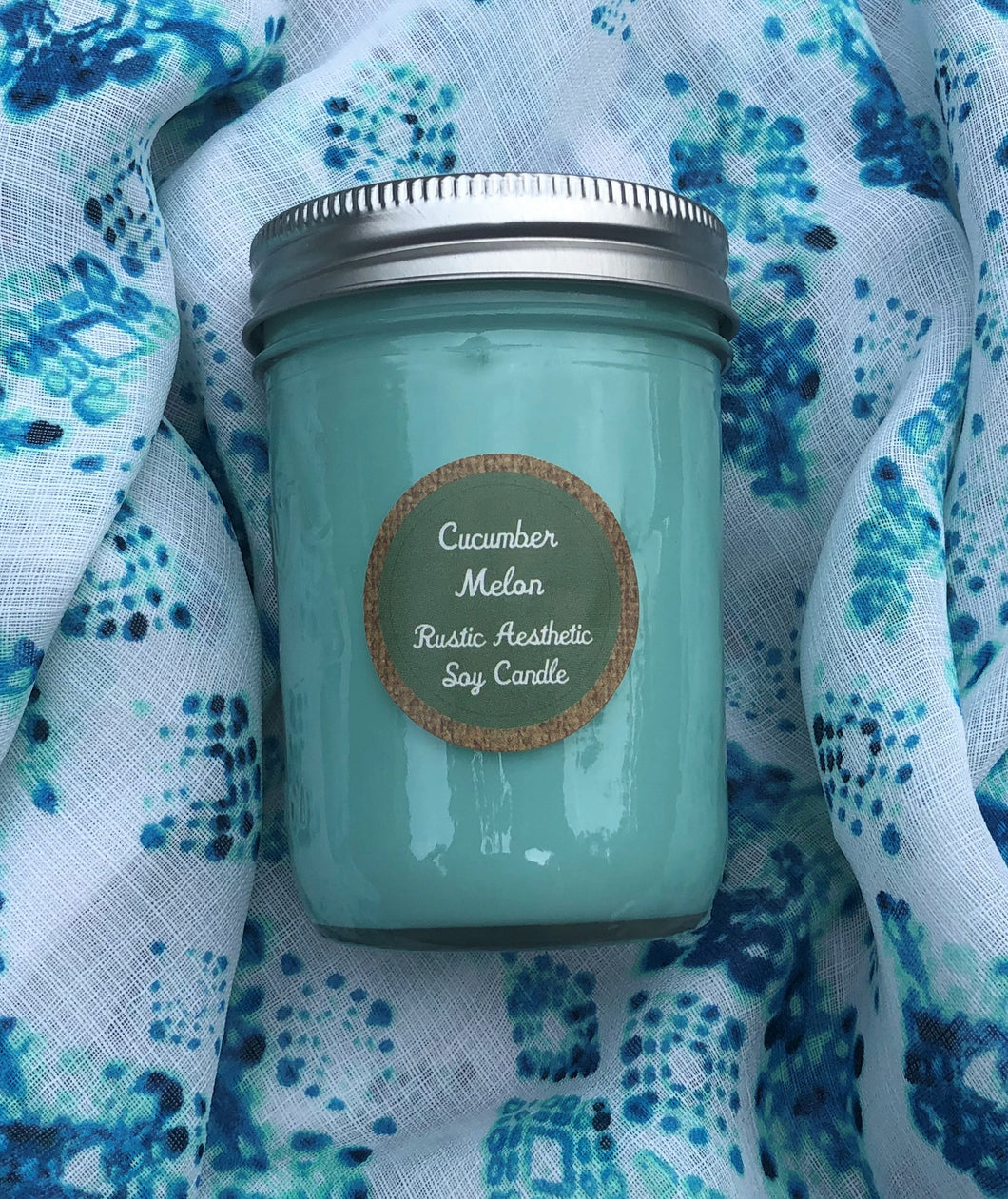 Cucumber Melon Soy Candle in an Iconic Mason Jar
