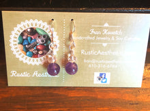Amethyst & Swarovski Crystal Earrings