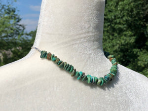 Enhanced Turquoise Medium Smooth Nugget Necklace with Star Dangle Closure