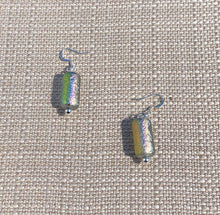 Dichroic Crystal Czech Glass & Silver Earrings