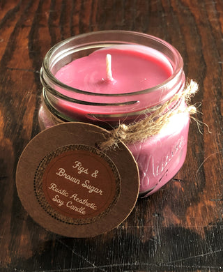 Figs & Brown Sugar Soy Candle in a Vintage Mason Jar