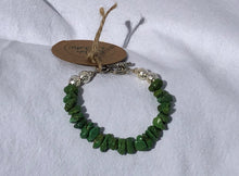 Green Turquoise & Silver Bracelet