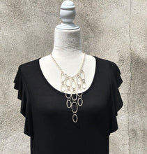 Hammered Silver Link Necklace