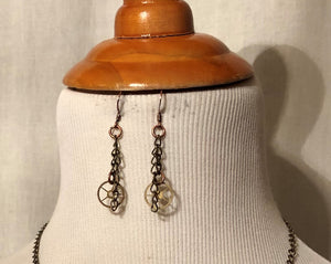 Vintage Watch Gear Earrings