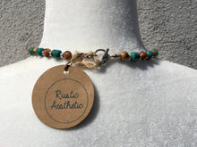 Turquoise, Olive Wood & Silver Necklace