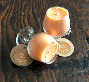 Juicy Peach Soy Candle in Tasting Glasses