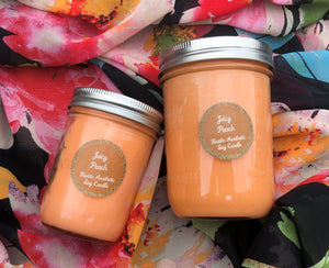 Juicy Peach Mason Jar Soy Candle
