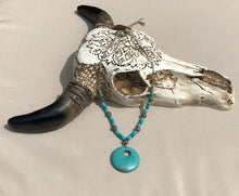 Turquoise Blue & Antique Silver Filigree Necklace