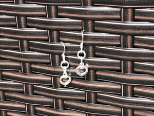 Open Heart Silver Earrings