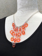 Citrus Iridescent Link & Silver Necklace